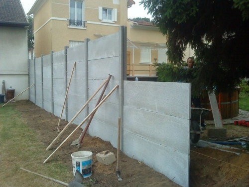 Amenagement ext rieur terrasse cergy pose cloture for Dalle en beton exterieur